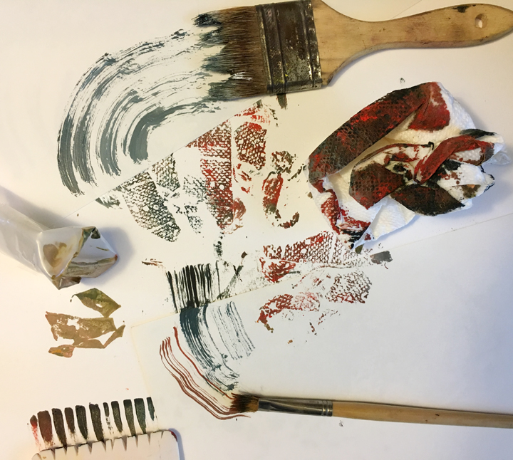 Using Unconventional Painting Tools