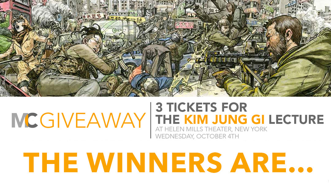 Kim Jung Gi Ticket Winners!