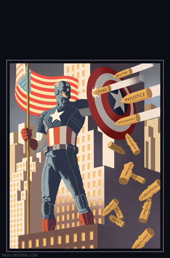 Captain America #1 Cover (Variant)