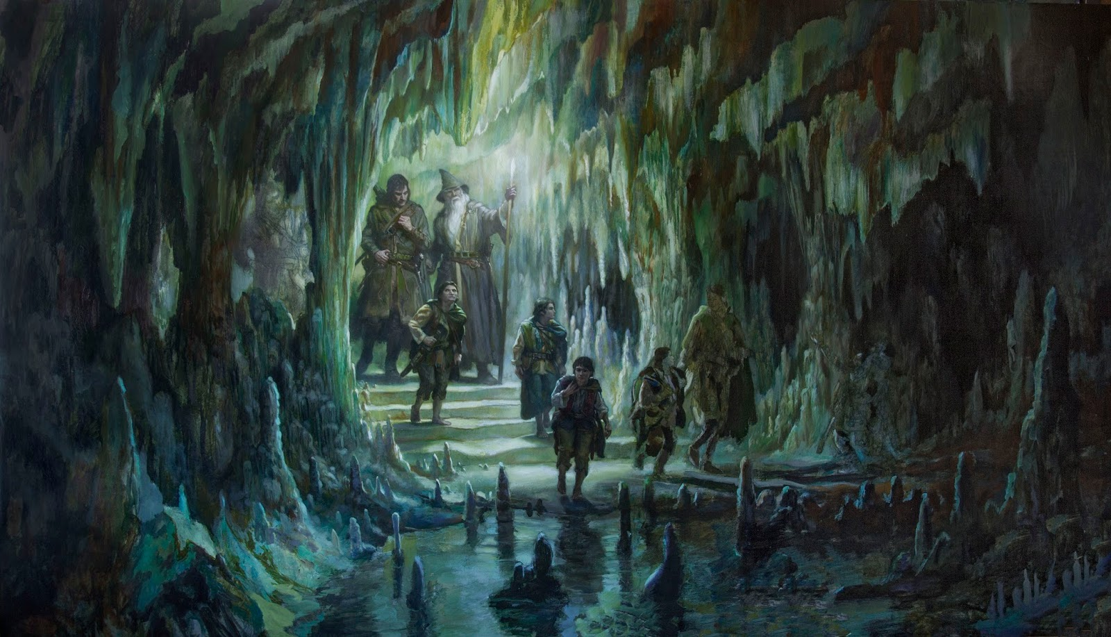 The Fellowship Of The Ring In Moria Muddy Colors