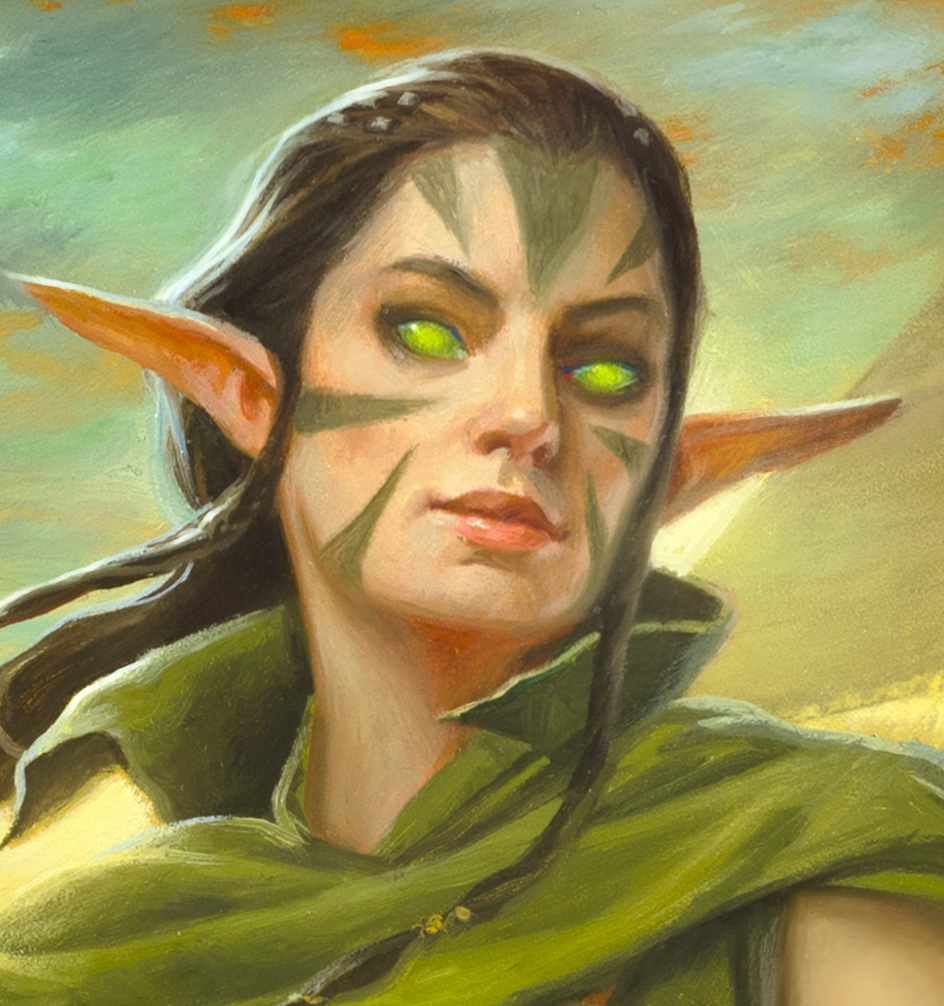 Painting a Planeswalker – Nissa, Steward of Elements
