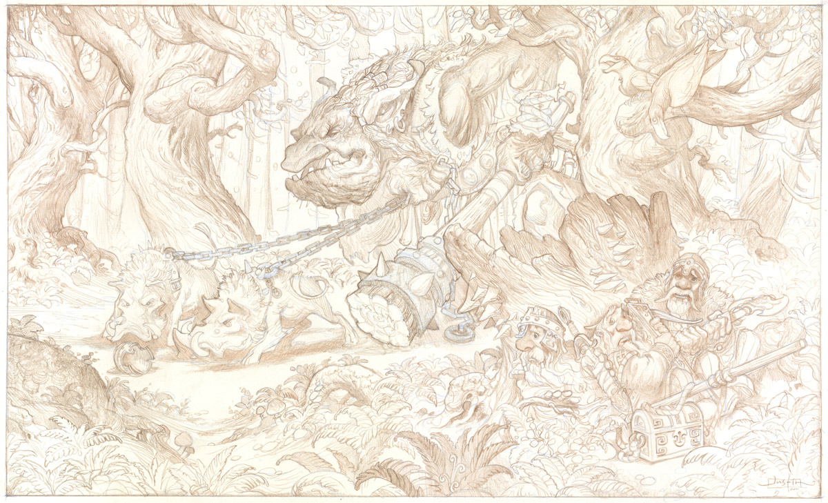 The Forest Troll Part VI: Tight Pencil Drawing