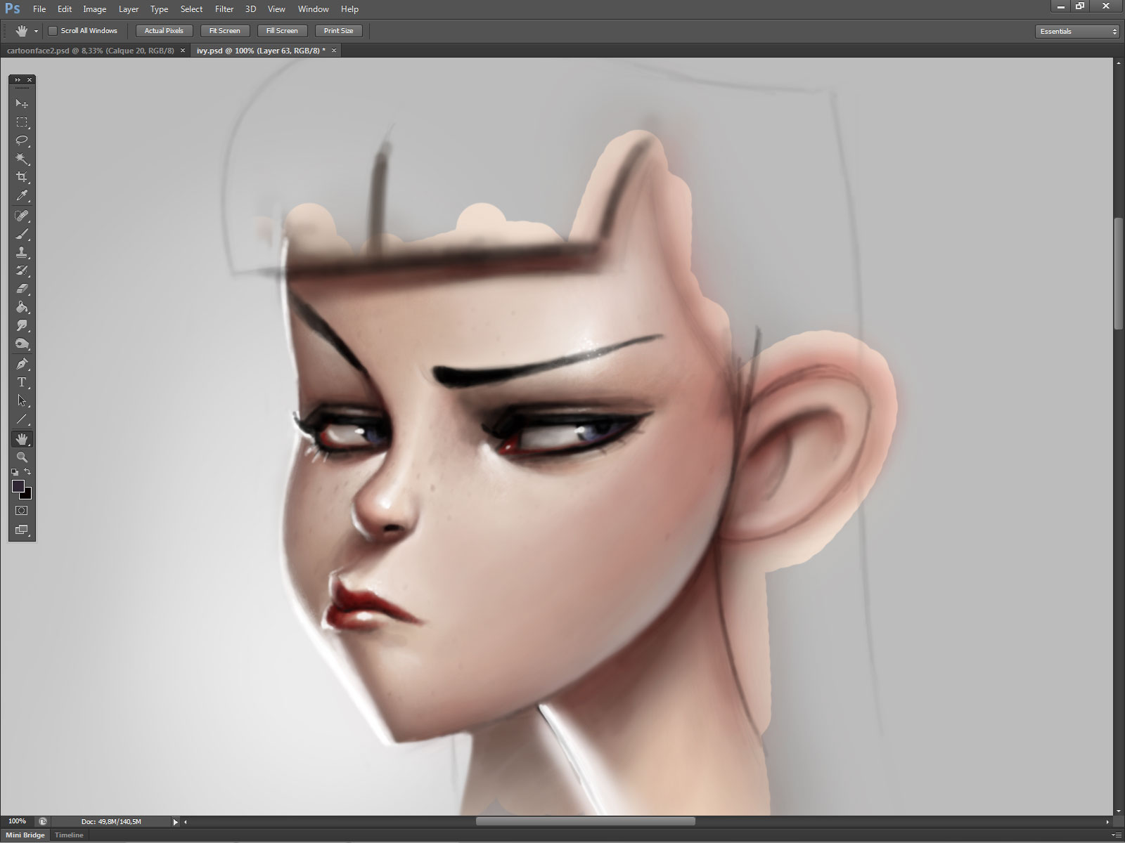 Cartoon face coloring