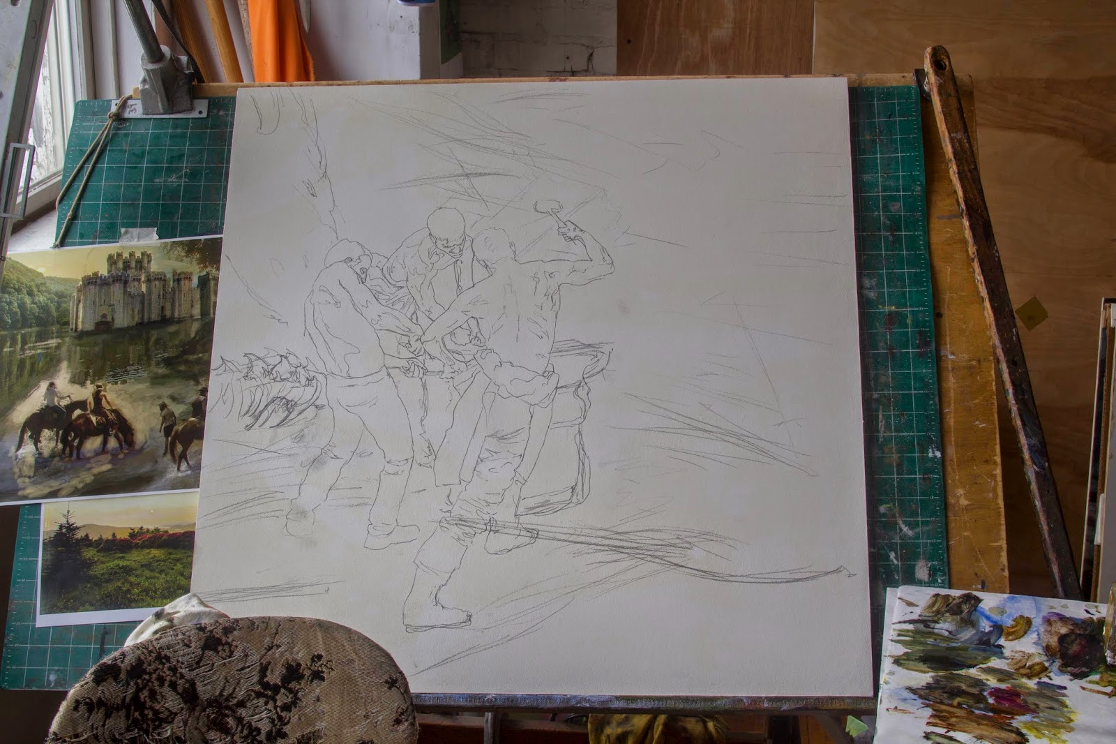 Forging the Iron Throne – 2015 Calendar Painting for 'A Song of Ice and Fire'