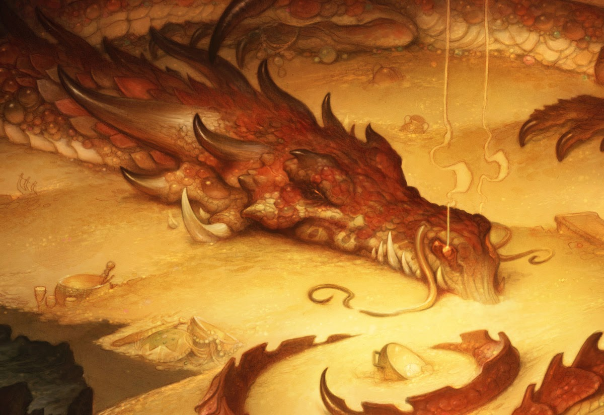 Fantastic Naturalist Paintings, and The Hobbit Part 8: The Desolation of Tolkien, I mean, Smaug