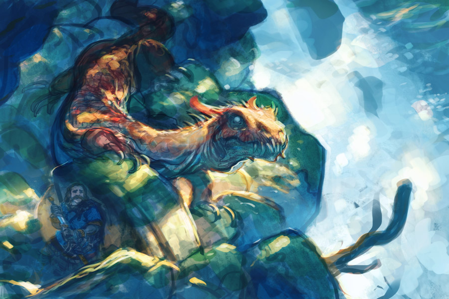 Dragon Watercolor and Final