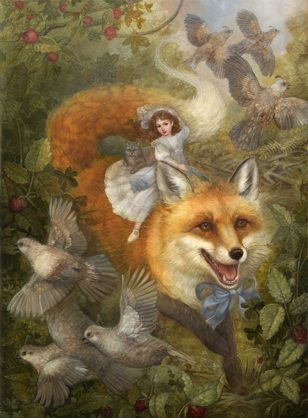 Renard and the Strawberries: Painting Demonstration