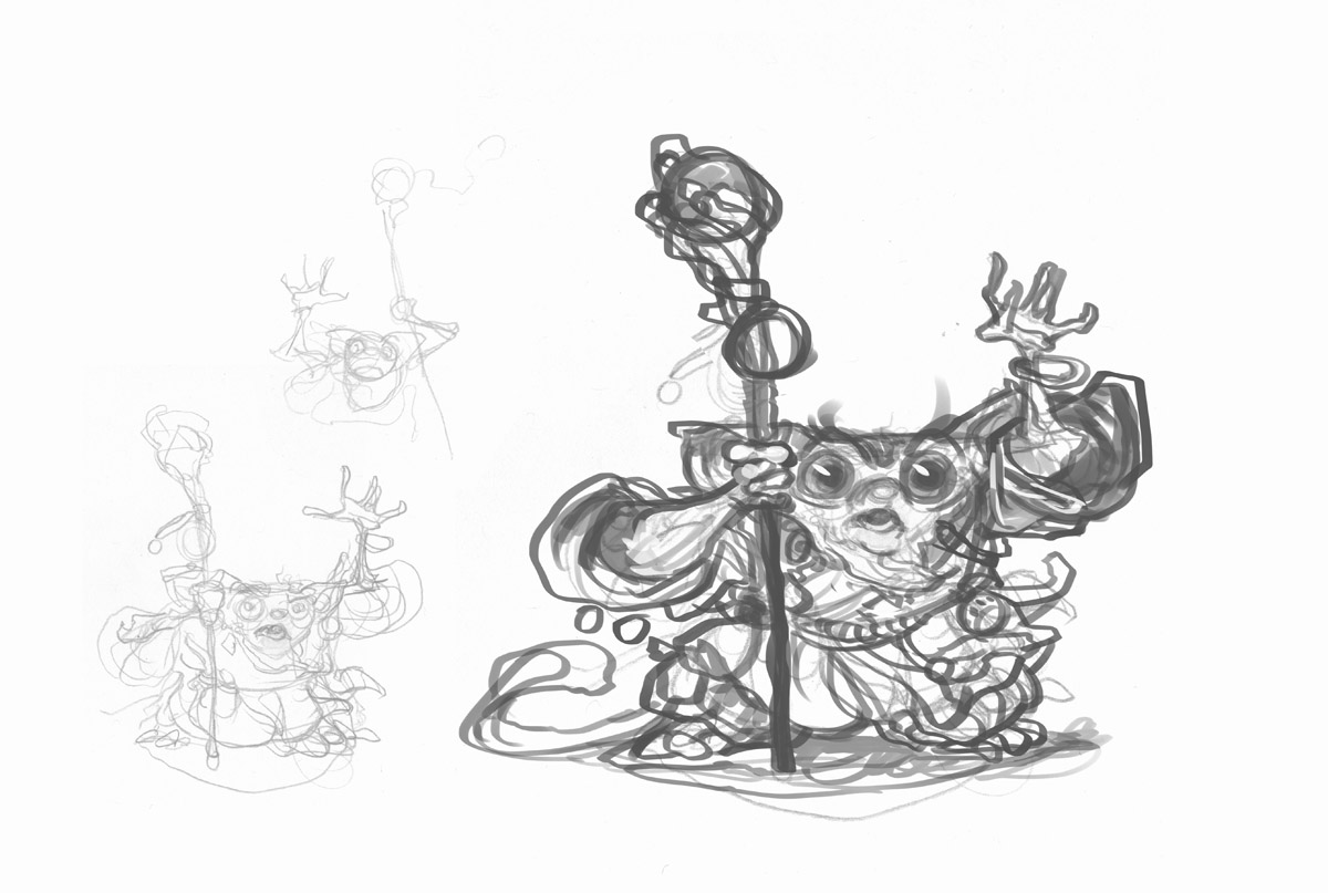Tiny Wizard Drawings