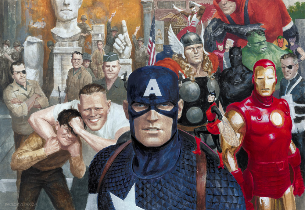 Painting Captain America