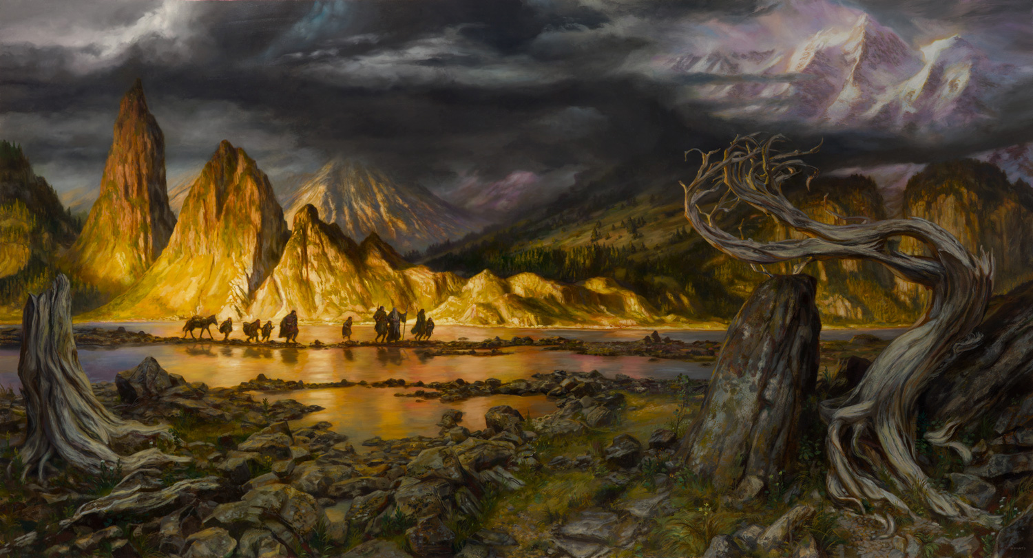 Epic Painting – The Fellowship of the Ring