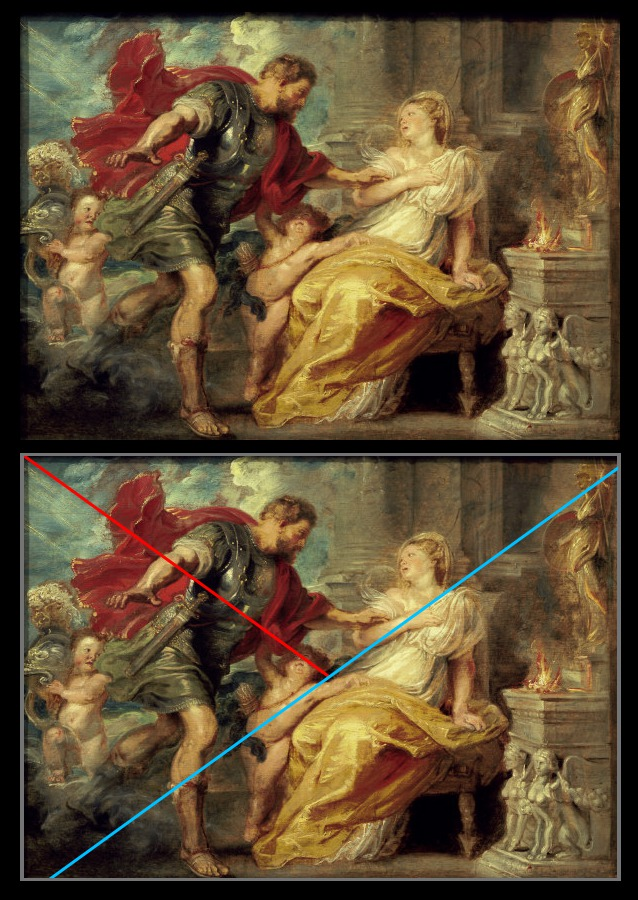 Diagonal Line Definition In Art : A baroque composition muddy colors