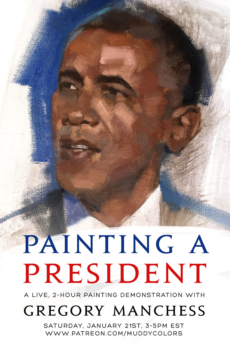 Painting Obama