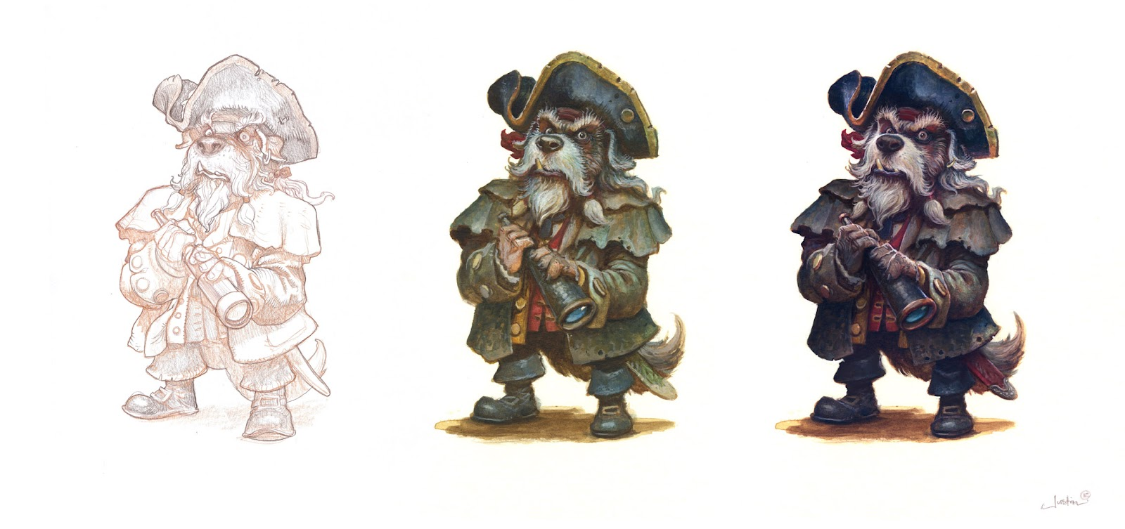 Billy Bones Character Design Process