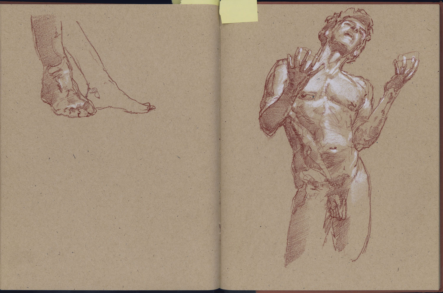 Life drawing session held by the London Atelier of
