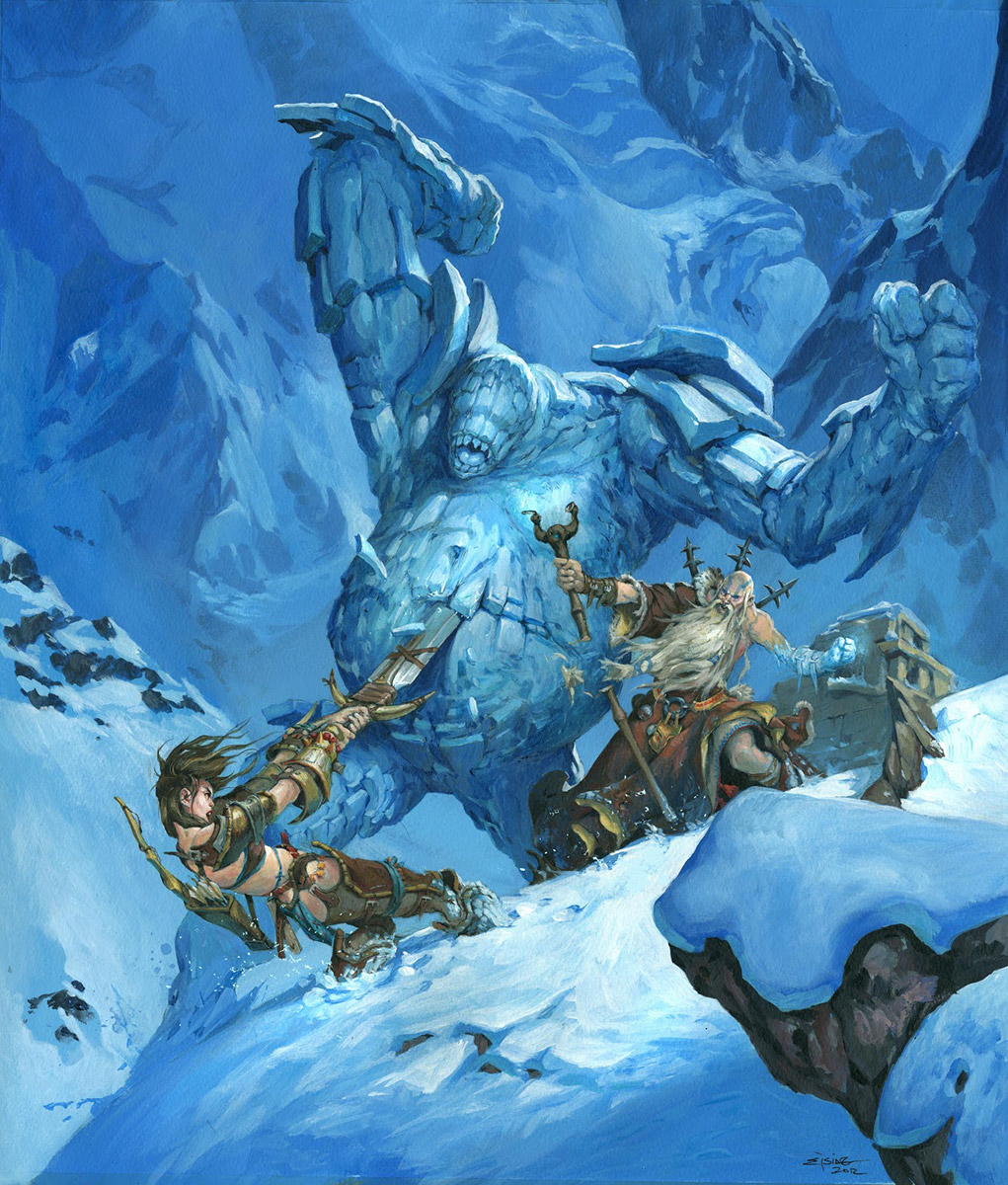 Ice Golem vs Barbarian
