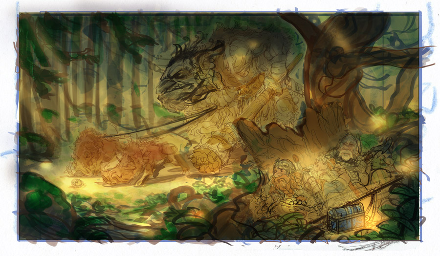 The Forest Troll Part IV: Color Comp and Drawing