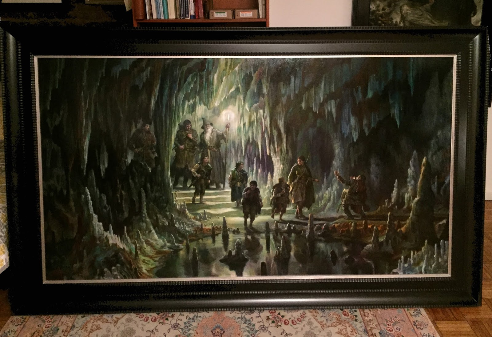 Epic painting – The Fellowship of the RIng in Moria