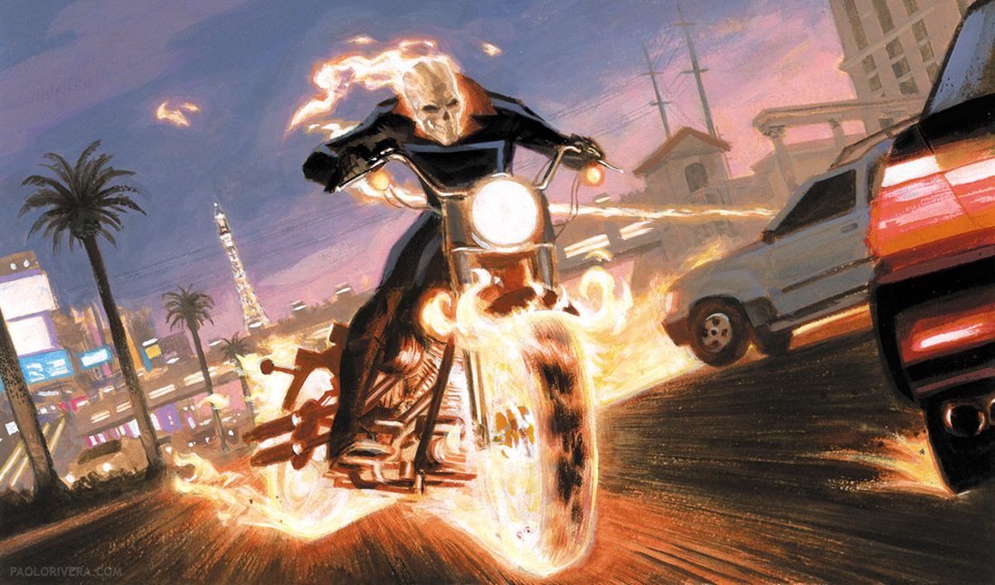 Painting Ghost Rider