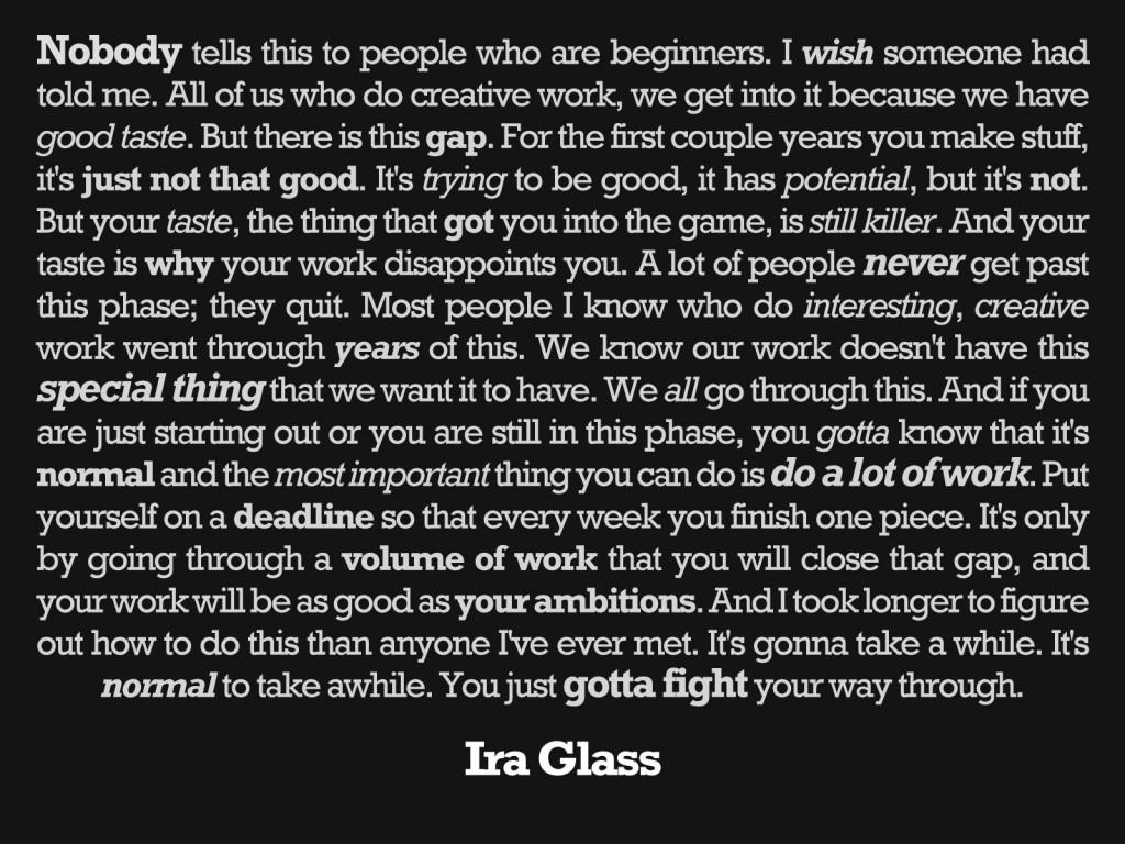 You just gotta fight…