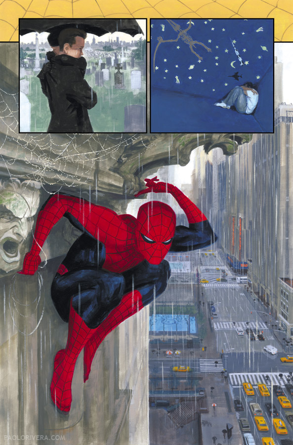Painting Spider-Man