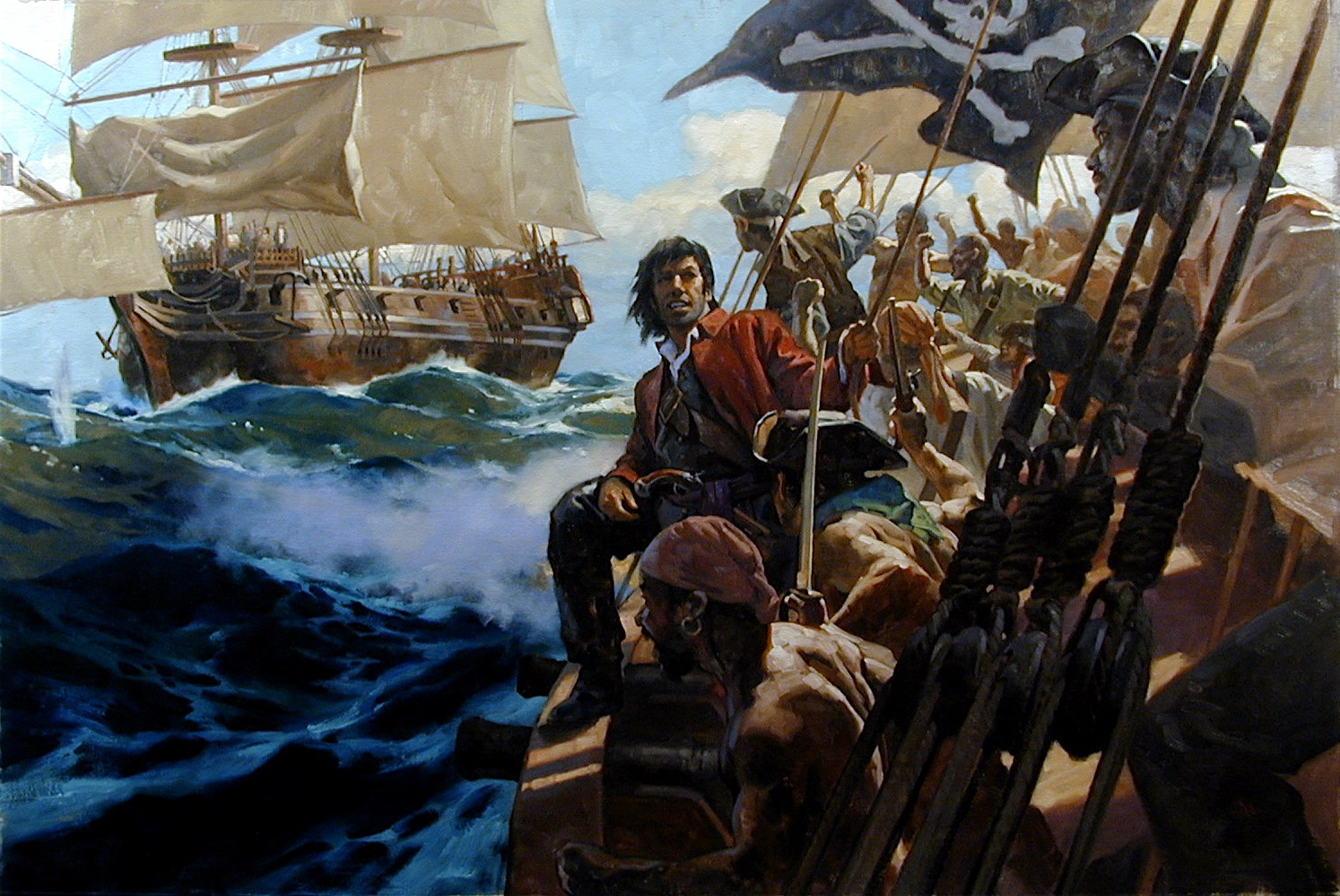 Pirate Paintings for National Geographic Pt. 4