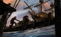Painting of a ship at port from Elder Scrolls: Legends
