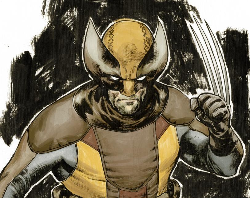 Inking Wolverine