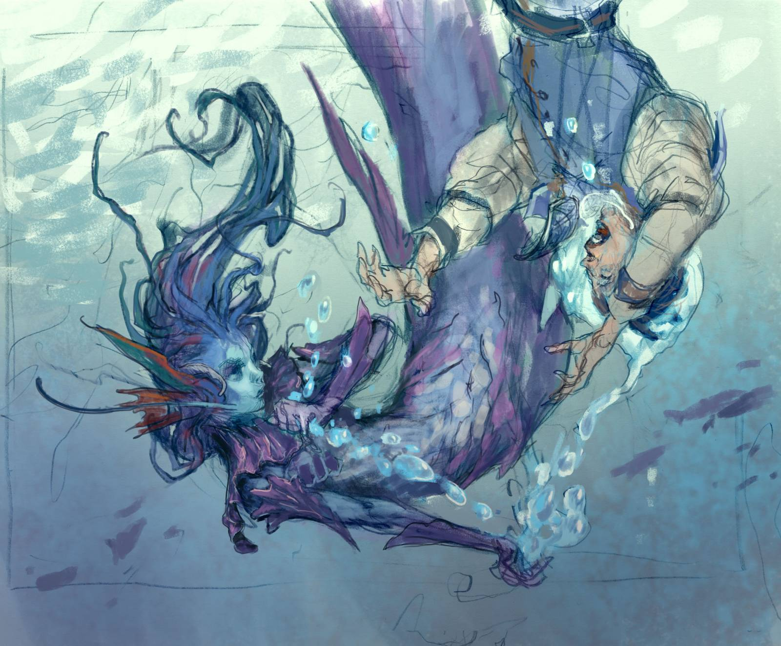 Image result for merfolk trickster art