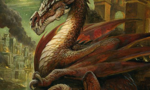 """Fire Dragon"" Oil Painting"