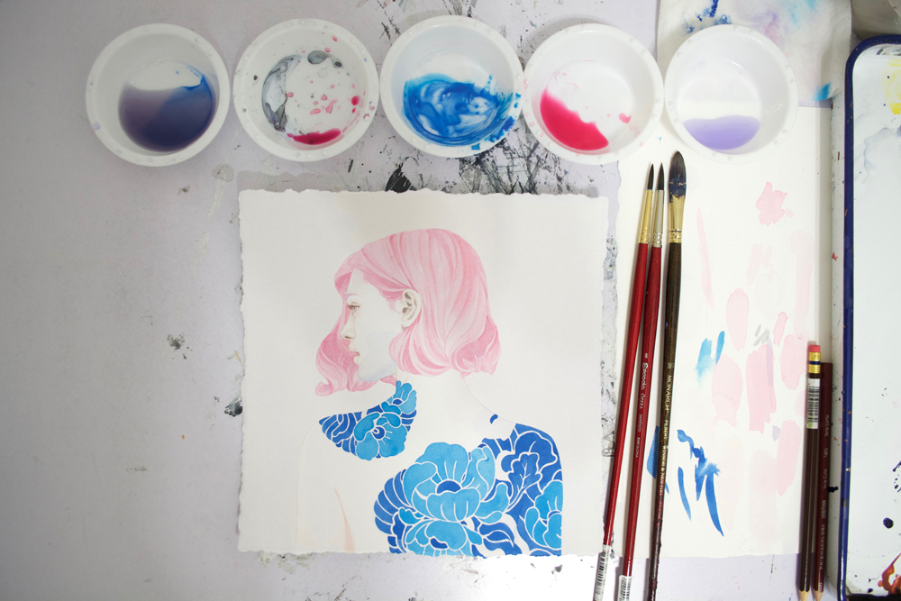 Painting With Acrylic & Colored Pencil   Muddy Colors