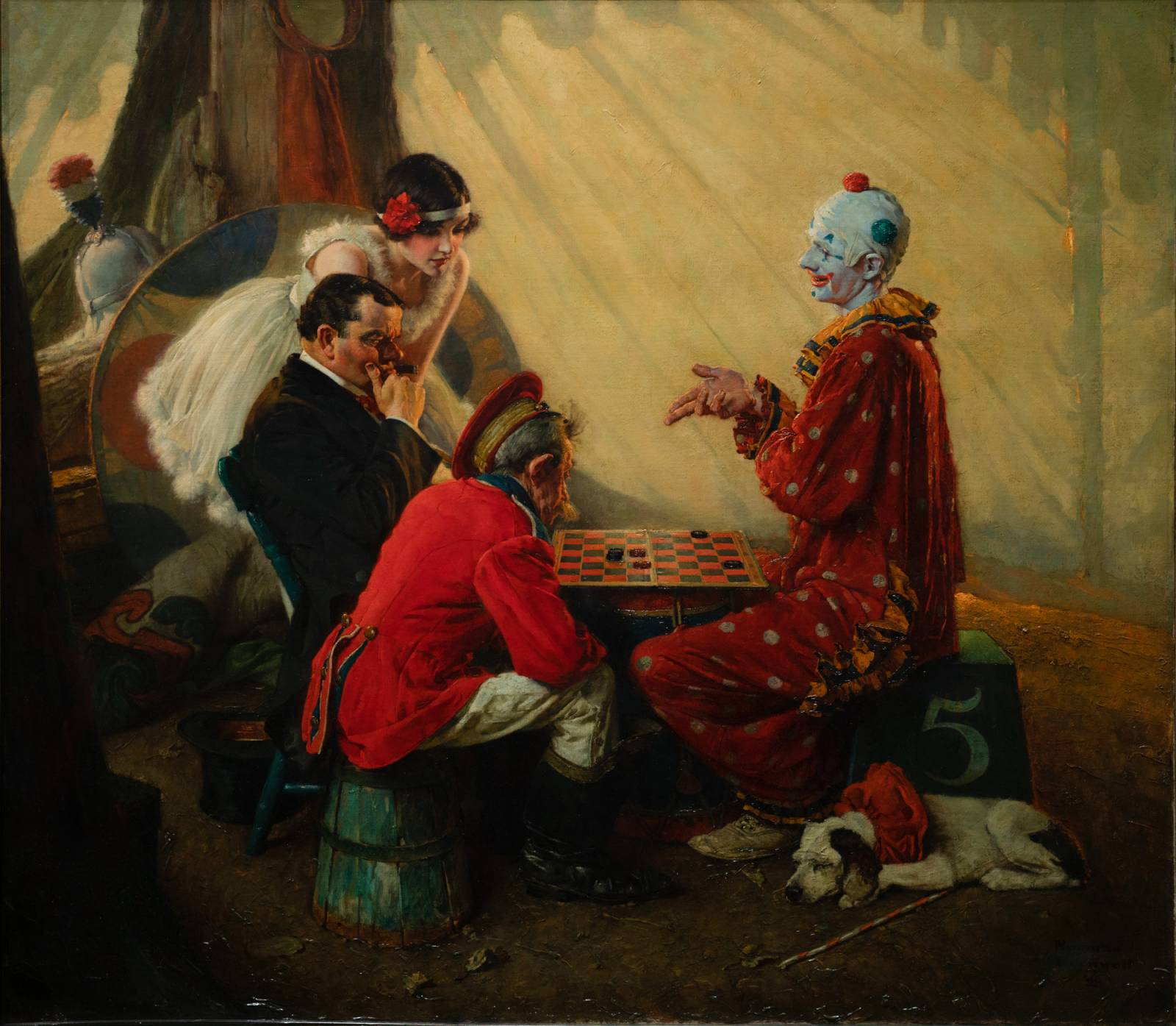 Norman Rockwell – Checkers | Muddy Colors