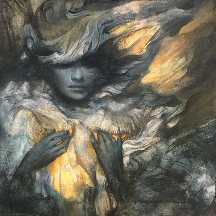 Painting In Layers Of Graphite And Acrylic