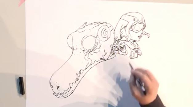 Drawing with Terada Katsuya and Kim Jung Gi
