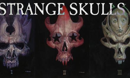 Strange Skulls- Acrylic Ink Adventure