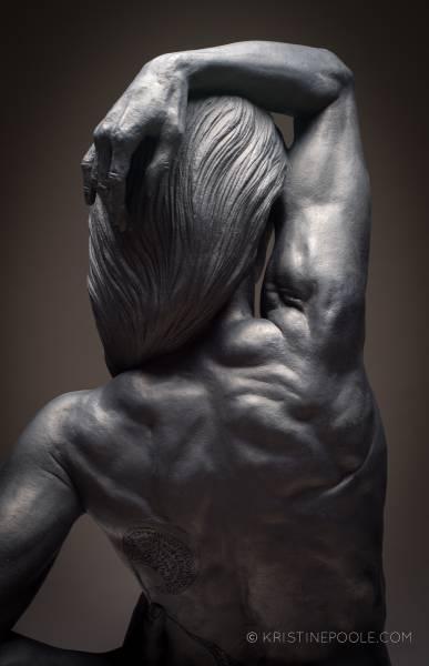 Muscled upper back