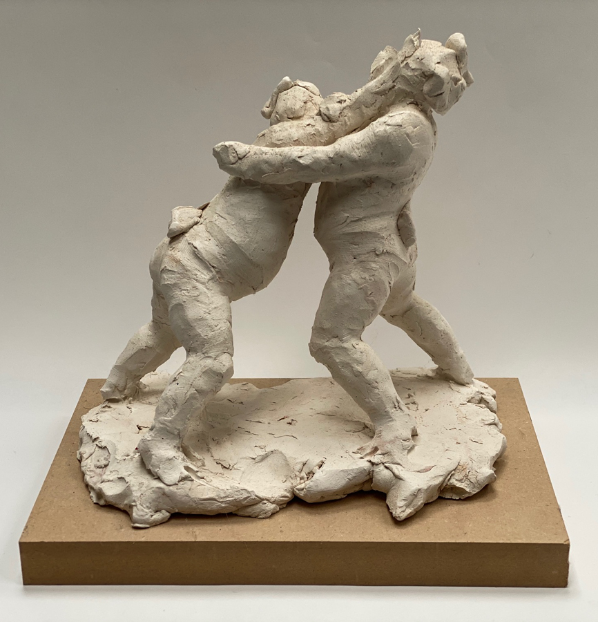 Sumo wrestlers clay sketch
