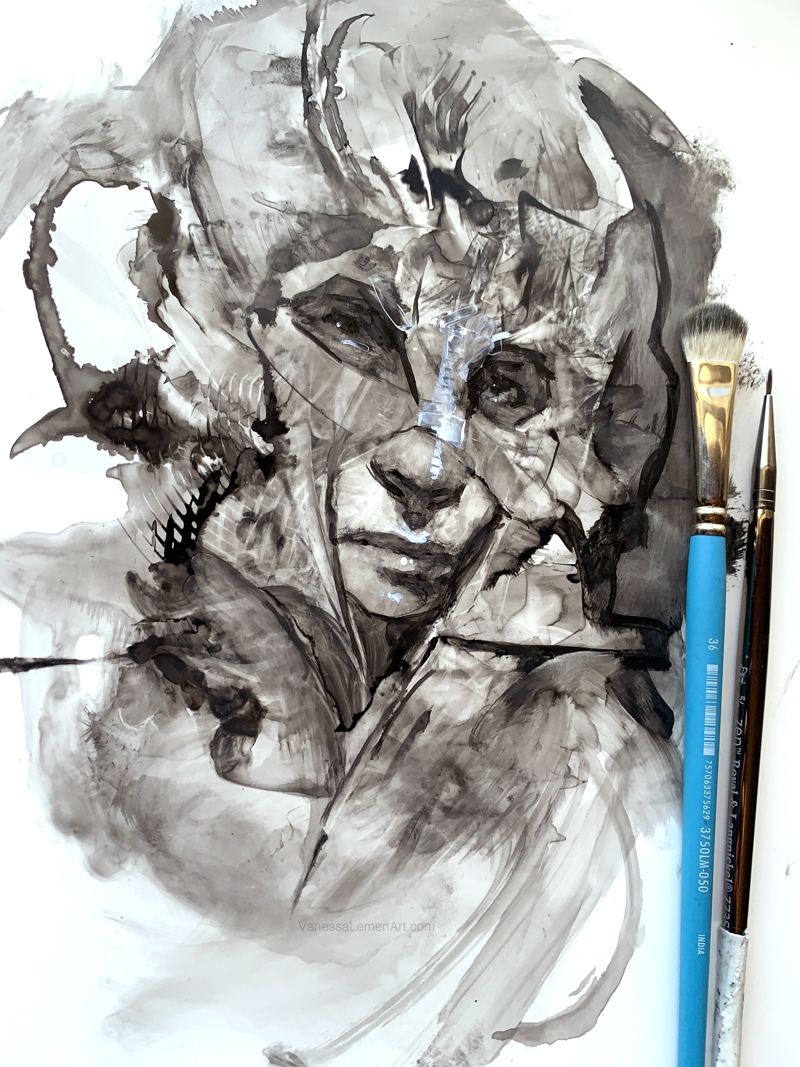 Ink Sketch and Process – Adira