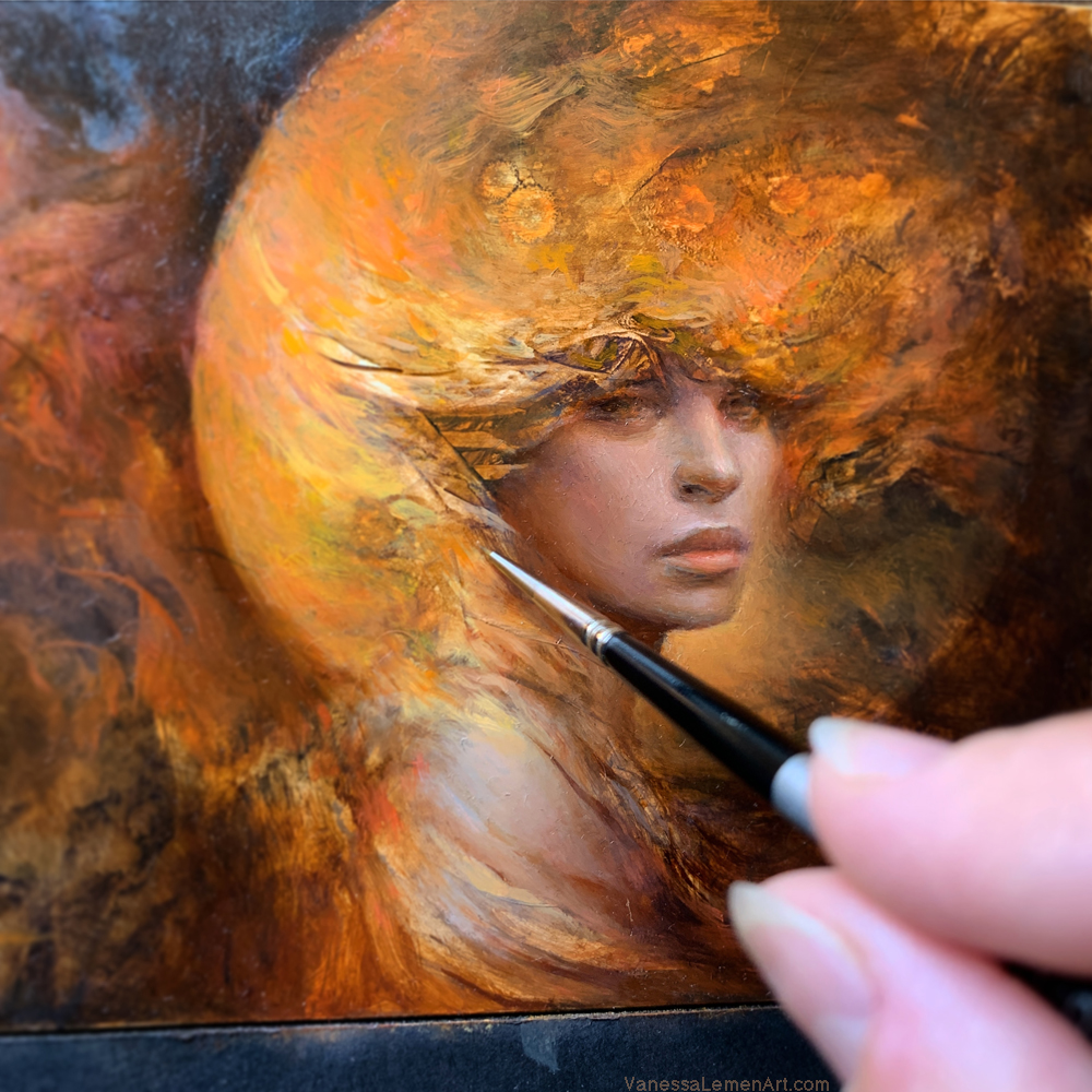 Painting Process // The Fire Moon Maiden