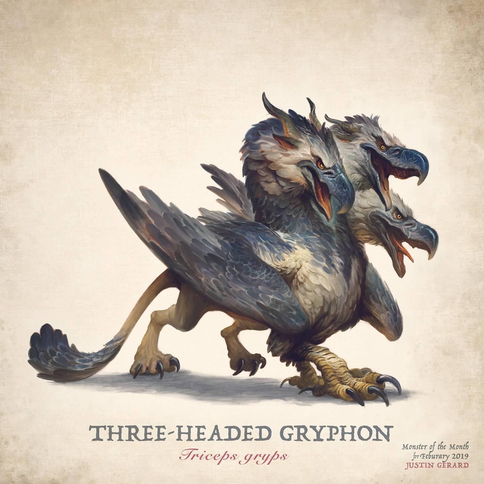 """The Three-Headed Gryphon"""