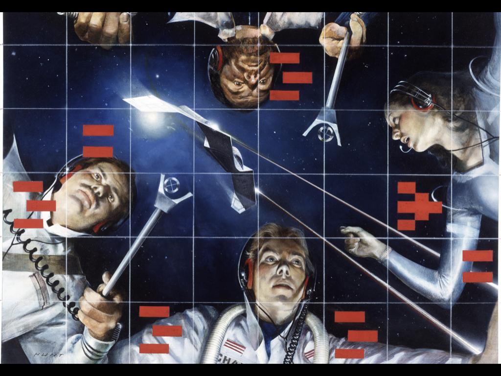 robert hunt illustration 1981 Atari Star raiders