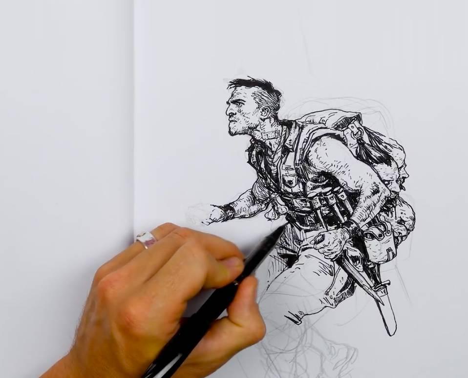 Sketching from Imagination with Karl Kopinski