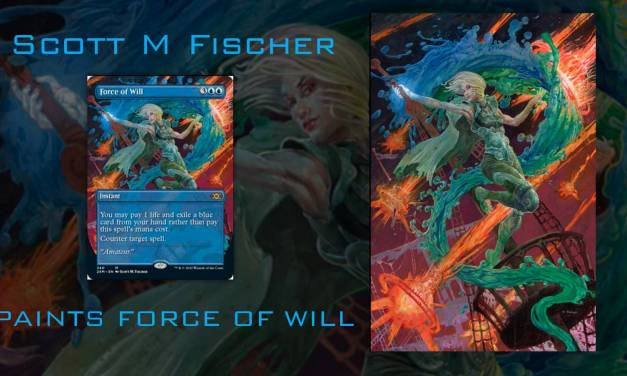 Video: Fischer paints the iconic Magic the Gathering card- 'Force of Will'