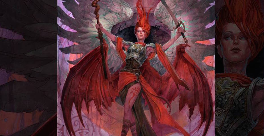 Fischer paints Kaalia of the Vast for Magic the Gathering