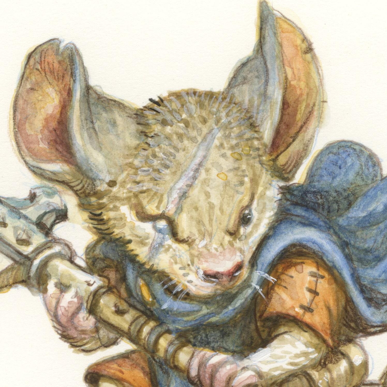 """Squint Axe-Mouse"" Watercolor Time-Lapse"