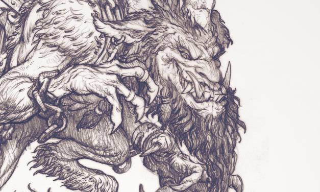 """The Krampus"" Drawing Timelapse"