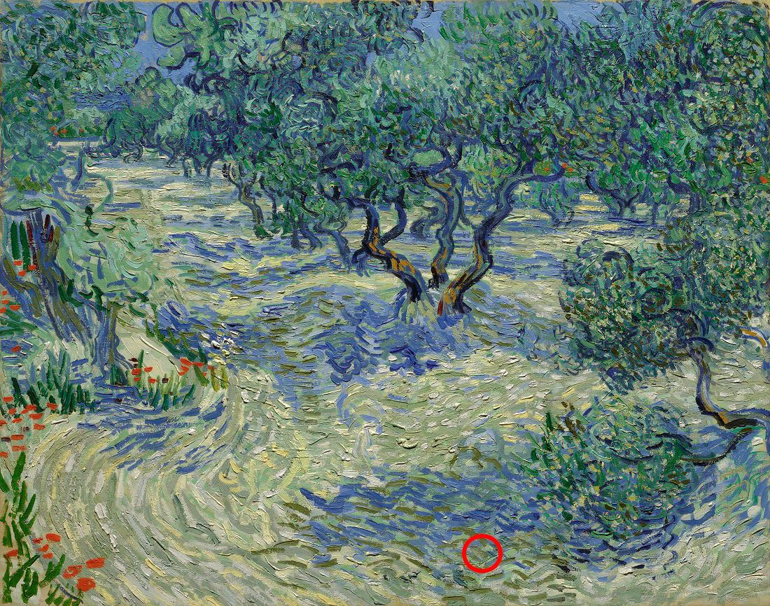 A little something extra in your painting, Mr. Van Gogh