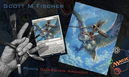 Fischer Paints 'Guardian Archon' for Magic The Gathering