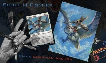 Fischer Paints 'Guardian Archon' for Magic The Gathering