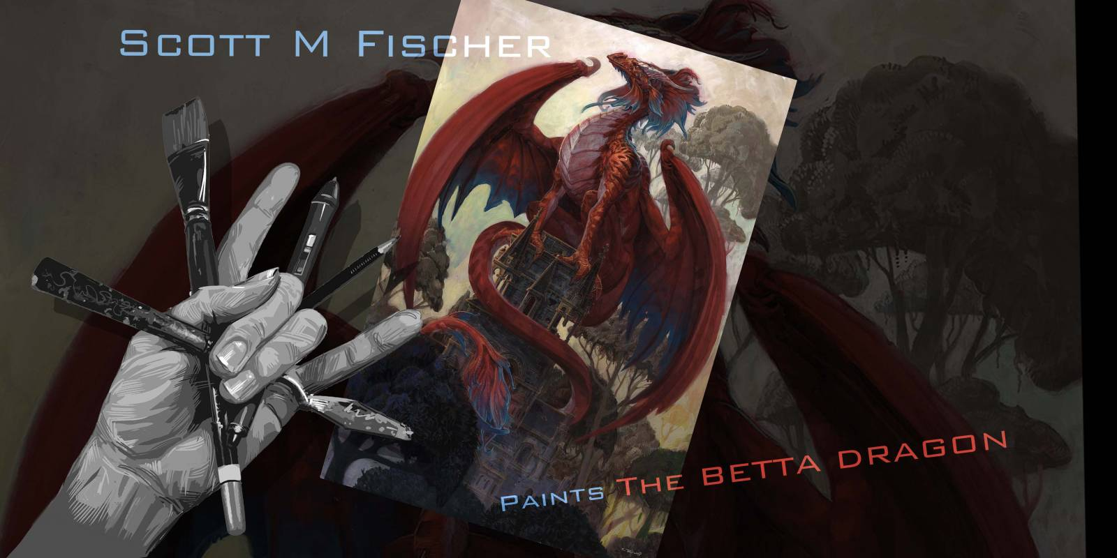 Fischer paints the Betta Dragon: video diary + my secret weapon revealed!