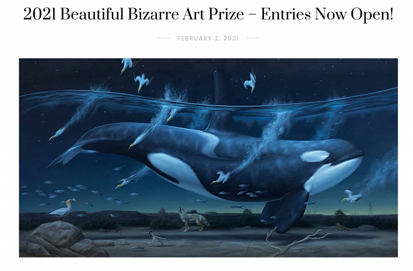 Enter the Beautiful Bizarre Art Prize